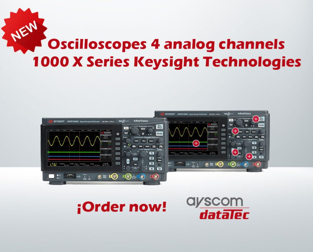 New oscilloscopes 1000X Keysight