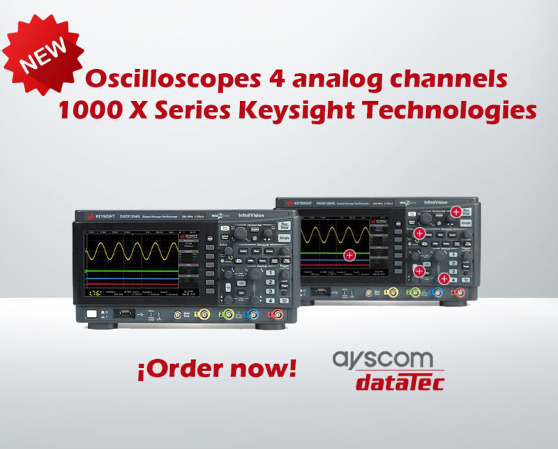 New 1000X Oscilloscopes from Keysight Technologies